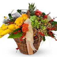 출산축하!과일꽃바구니