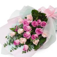 핑크장미혼합 꽃다발