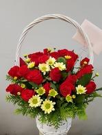 장미꽃바구니(배송된상품)