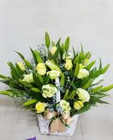 백합혼합꽃바구니